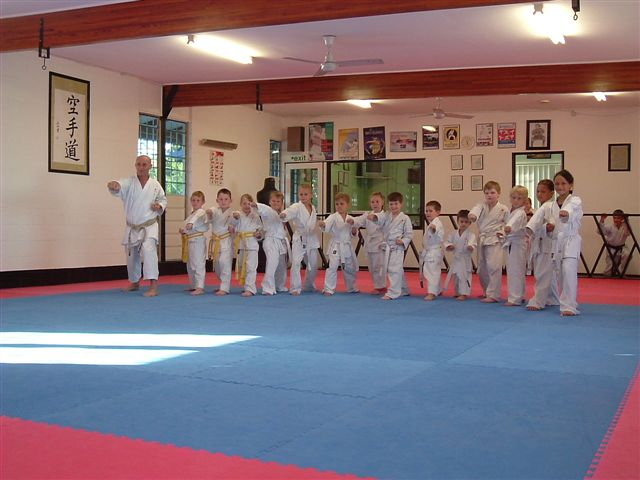 Sensei training peewee's.
